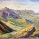 Santa Monica Mountains, oil sketch